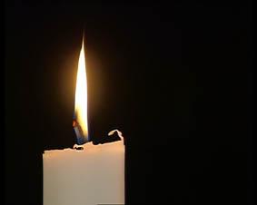 Jag tänkte att vi skulle meditera över det här ljuset, sa Bernhard